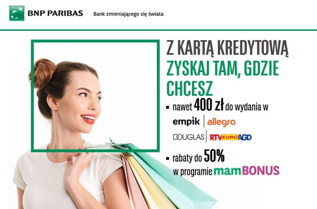BNP paribas promocja Karta Kredytowa