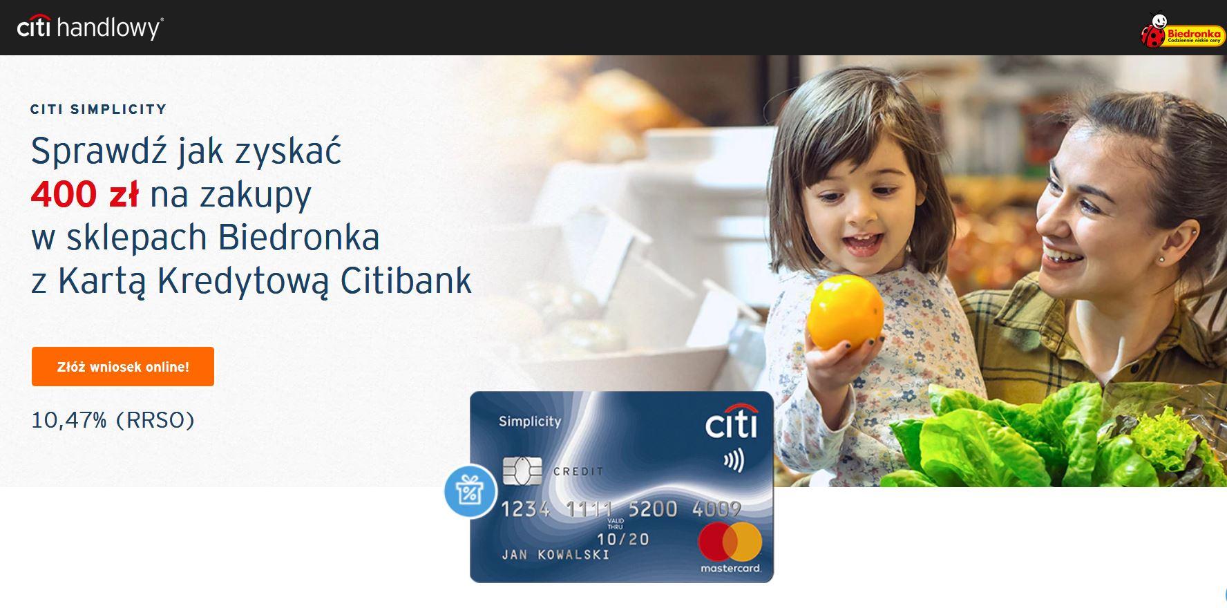 Biedronka promocja karta kredytowa
